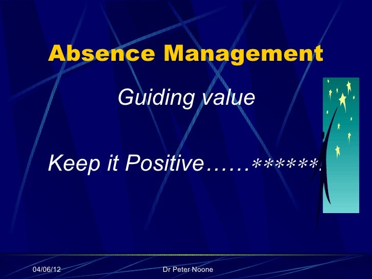 absence management At the standard, we understand that absence management is about more than compliance ultimately, it's about productivity our holistic approach and integrated process mean a simpler experience for employees and better results for you.