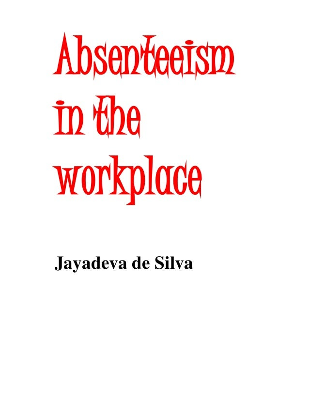 absenteeism research paper