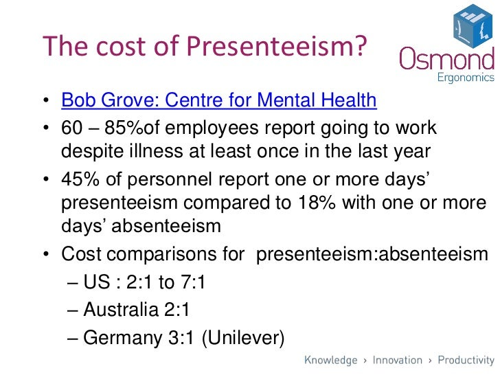 The Causes and Costs of Absenteeism