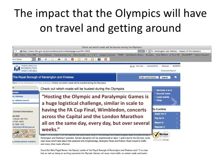 The impact of the olympics and paralympics tourism essay