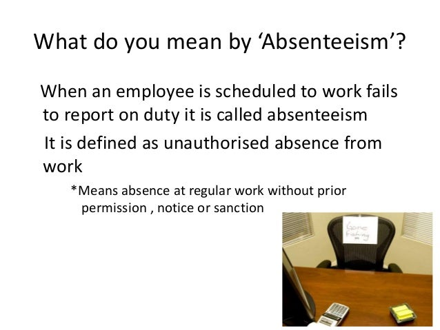 absenteeism 3 But new research on chronic absenteeism reveals a lot of surprising details can  make a difference in whether students make it to class.