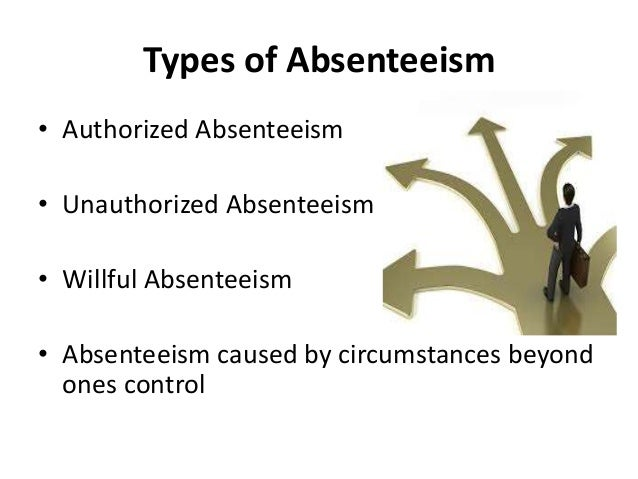 conclusion of employee absenteeism Employee absenteeism will affect the productivity of the organization conclusion the management must first have a positive attitude towards absenteeism even though.