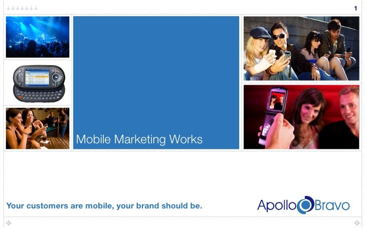 1                      Mobile Marketing Works     Your customers are mobile, your brand should be.