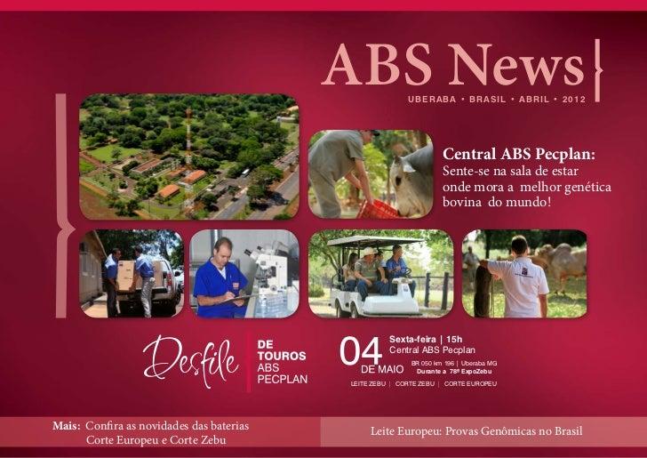 ABS News       U B E R A B A • B R A S I L • A B R I L • 2012                                                             ...