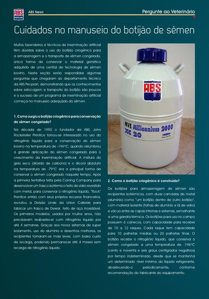 ABS News                                                                 Pergunte ao VeterinárioCuidados no manuseio do bo...