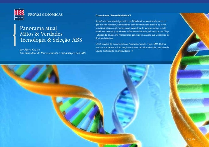"""PROVAS GENÔMICAS                               O que é uma """"Prova Genômica"""" ?                                             ..."""