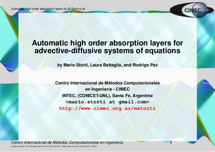 Automatic high order absorption layers by M.Storti et.al.                          Automatic high order absorption layers ...