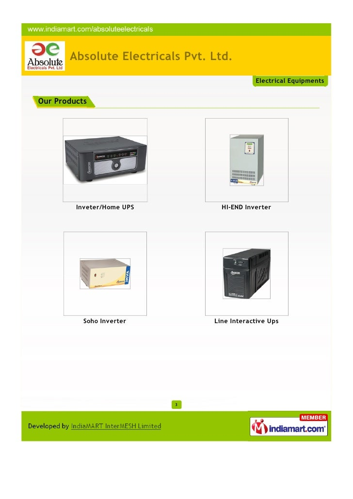 Absolute Electricals Pvt. Ltd., Hyderabad Slide 3