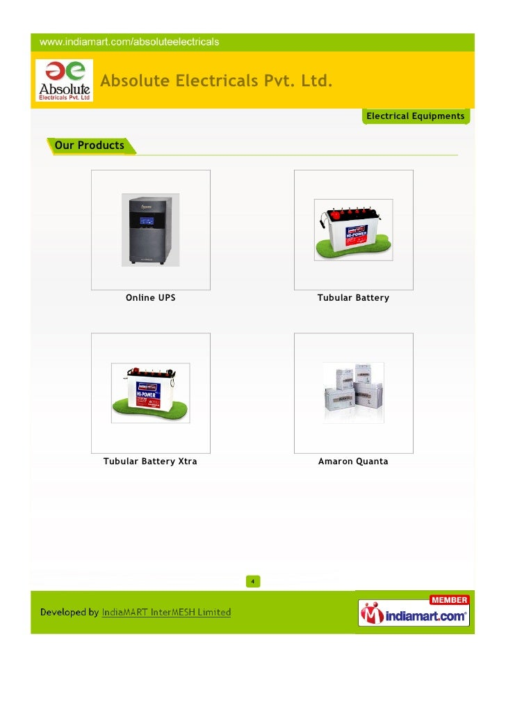 Absolute Electricals Pvt Ltd Hyderabad