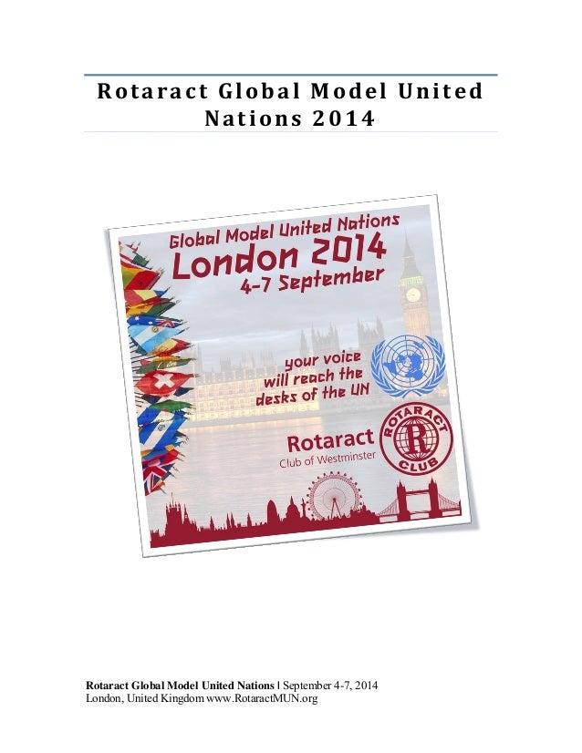 NottsMUN: Nottingham International Model United Nations 2014