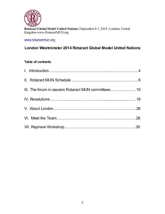 Wmlis model united nations 2014