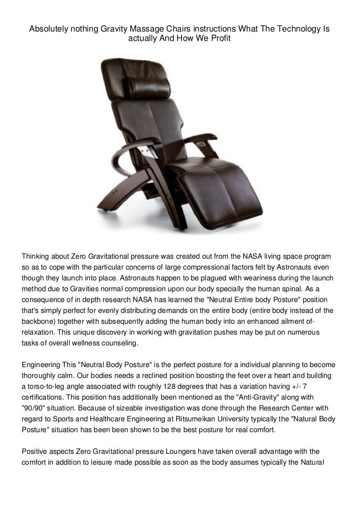 Zero Gravity Massage Chairs What The Technology Is And How We Benef