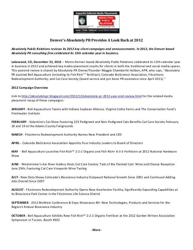 DenversAbsolutelyPRProvidesALookBackat2012AbsolutelyPublicRelationsreviews...
