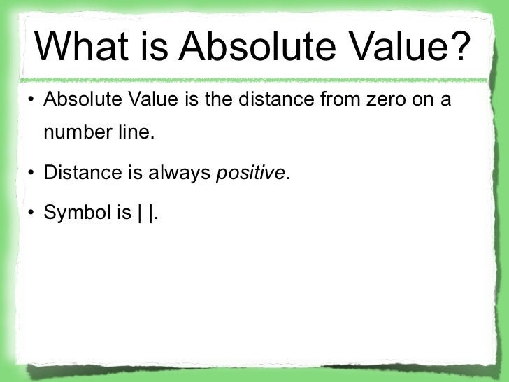 Absolute Value Inequalities Notes