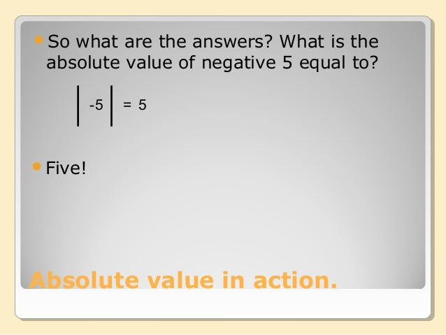 what are absolute values