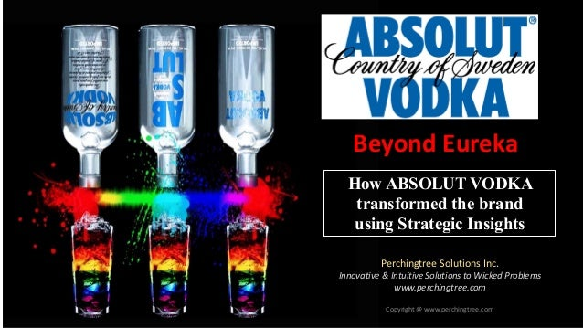 Copyright @ www.perchingtree.com How ABSOLUT VODKA transformed the brand using Strategic Insights Perchingtree Solutions I...