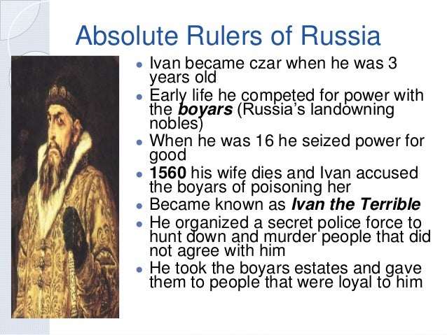 absolutism and revolution rh slideshare net absolute rulers of russia guided reading answers