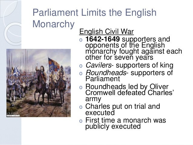 absolutism and revolution rh slideshare net Parliamentary Monarchy Spain chapter 21 section 5 parliament limits the english monarchy guided reading