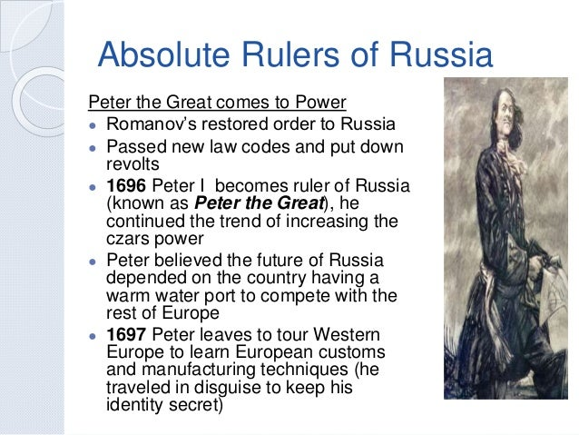 absolutism and peter the great analysis How did absolutism arise in france/russia and in russia under peter the great peter the great also practiced absolutism like louis xvi of france.