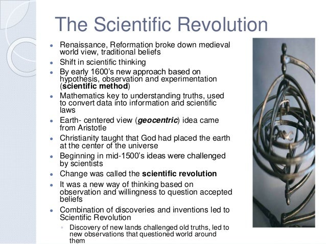 a review of the scientific revolution