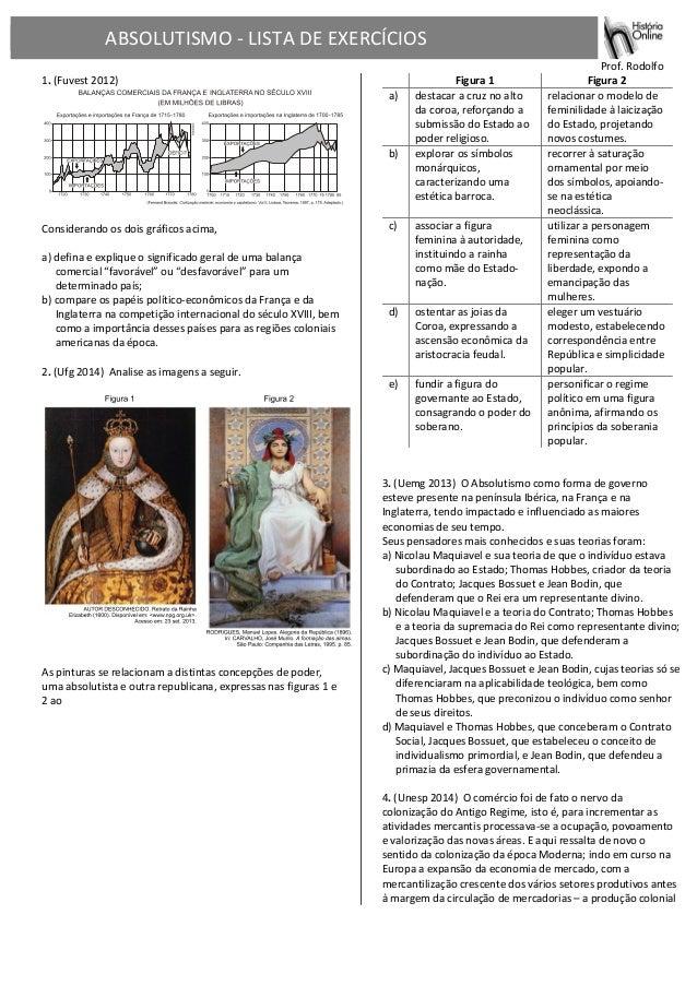 ABSOLUTISMO  -‐  LISTA  DE  EXERCÍCIOS                                        ...