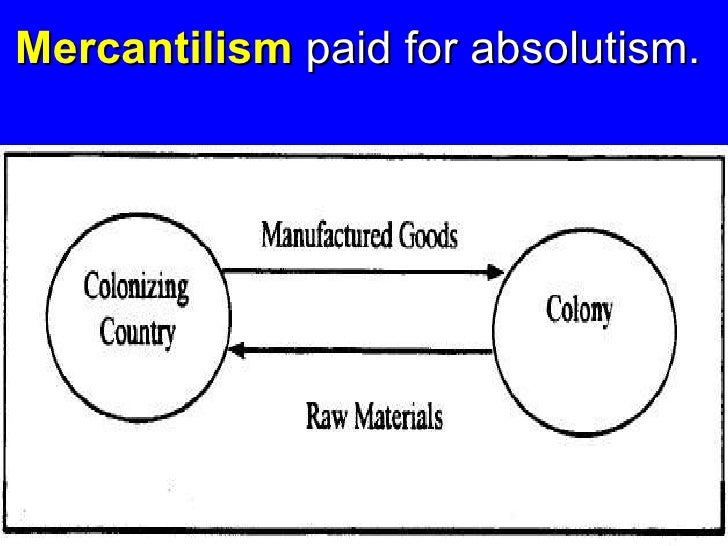 Mercantilism paid for absolutism.