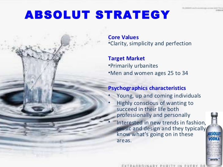 marketing strategy of absolut vodka A top distiller of wine and spirits, the swedish firm is best known for its iconic absolut vodka  or call you at the number you provide with marketing or.