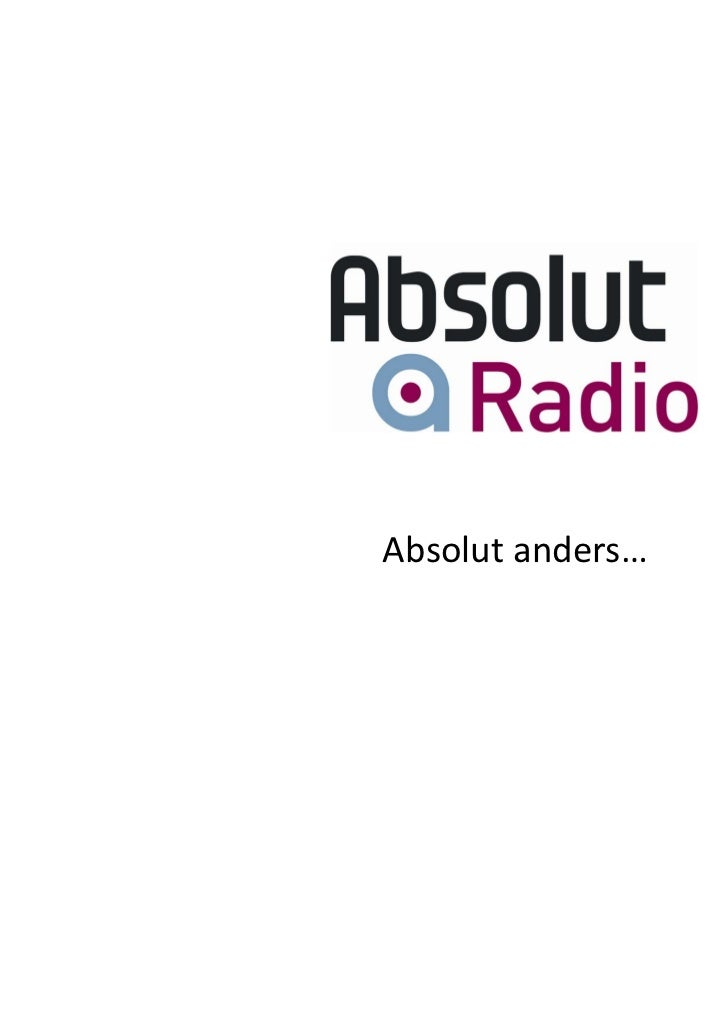 Absolut anders…
