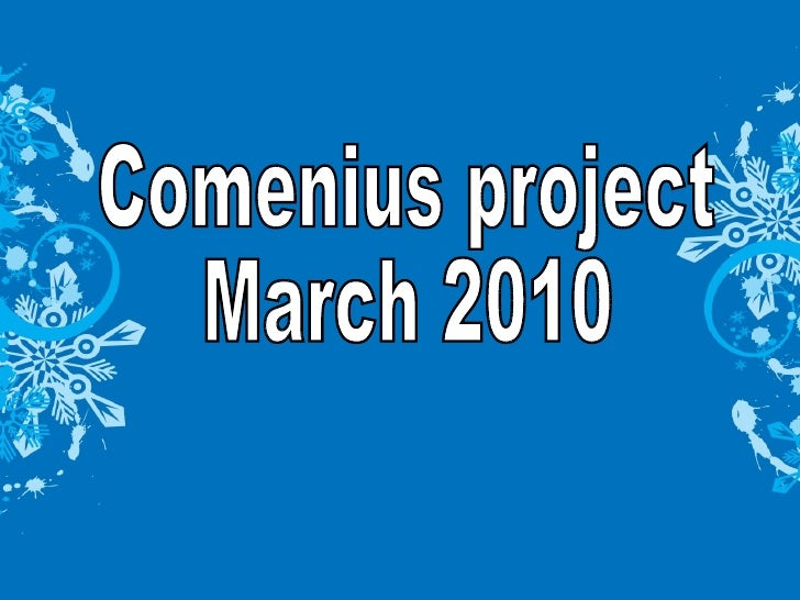 Comenius project March 2010