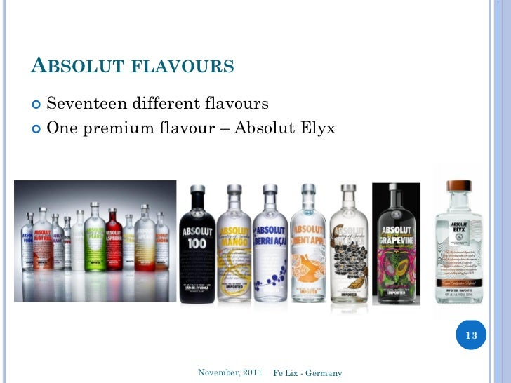 the various strategies of alsolut vodka in their advertisements Absolut received most of its fame from innovative advertising depicting their vodka bottles in various graphically enhanced and often very conceptual situations.
