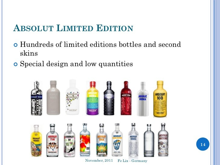 marketing strategy of absolut vodka Tito's' quarterly cocktail program is a key part of the brand's integrated marketing  strategy each quarter, a cocktail recipe is developed and distributed through.