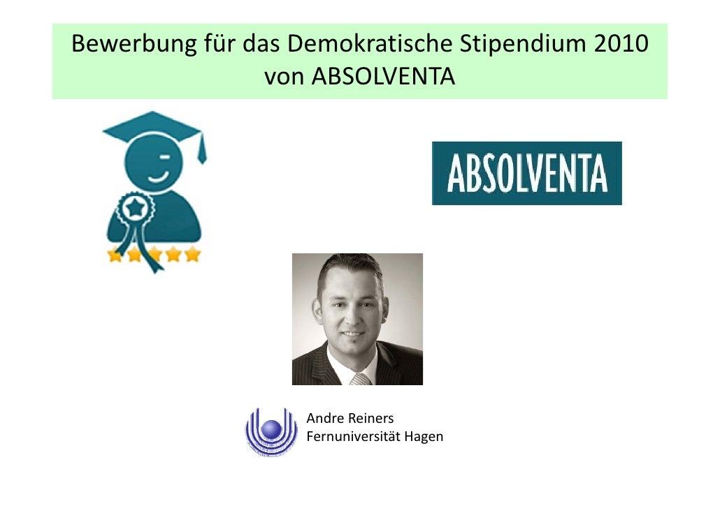 Absolventa demokratische Stipendium 2010