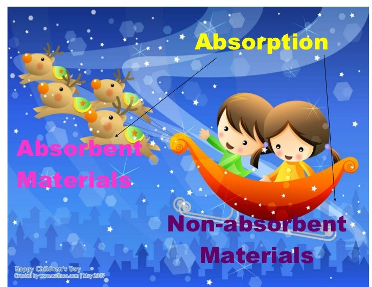 AbsorptionAbsorbentMaterials            Non-absorbent              Materials