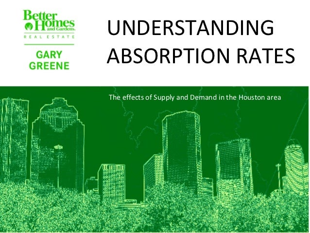 UNDERSTANDINGABSORPTION RATESThe effects of Supply and Demand in the Houston area