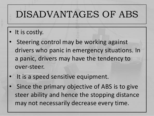 Abs thoroughly explained - Advantages disadvantages electronic locks ...