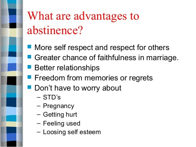 Physical benefits of abstinence