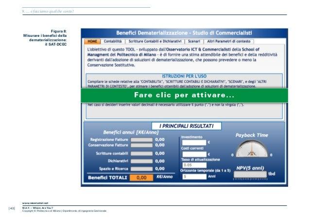 | 42 |www.osservatori.netW.A.Y. – Where Are You?Copyright © Politecnico di Milano | Dipartimento di Ingegneria Gestionale9...