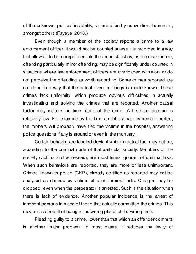 Effectiveness of Crime Control Measures in Nigeria