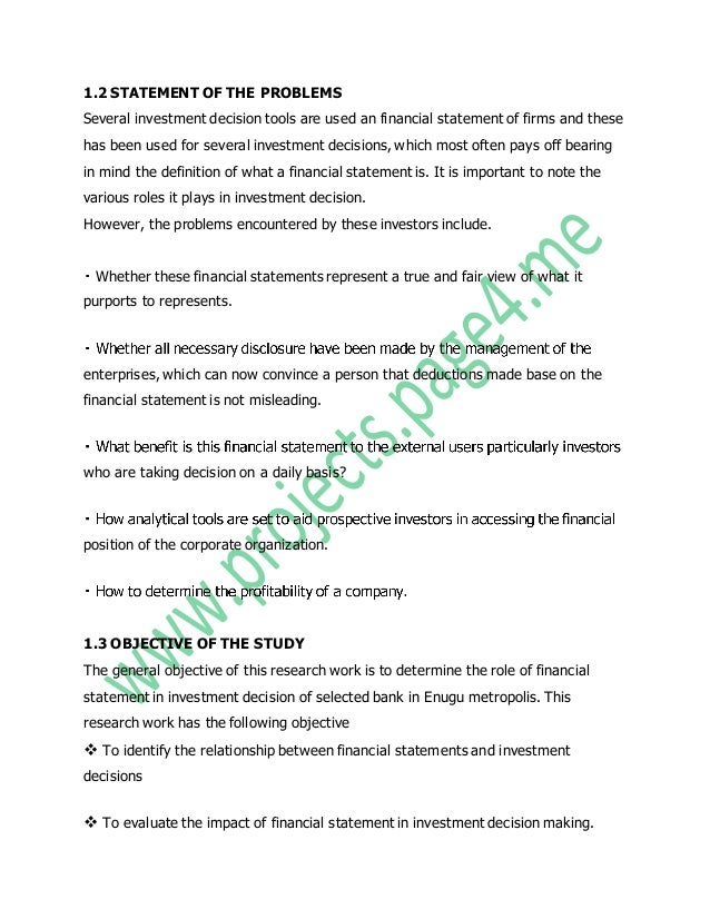 role of financial statements in decision International financial reporting standards (ifrs) – on financial decisions  around  importance of financial reporting regulation in explaining financing  policies.