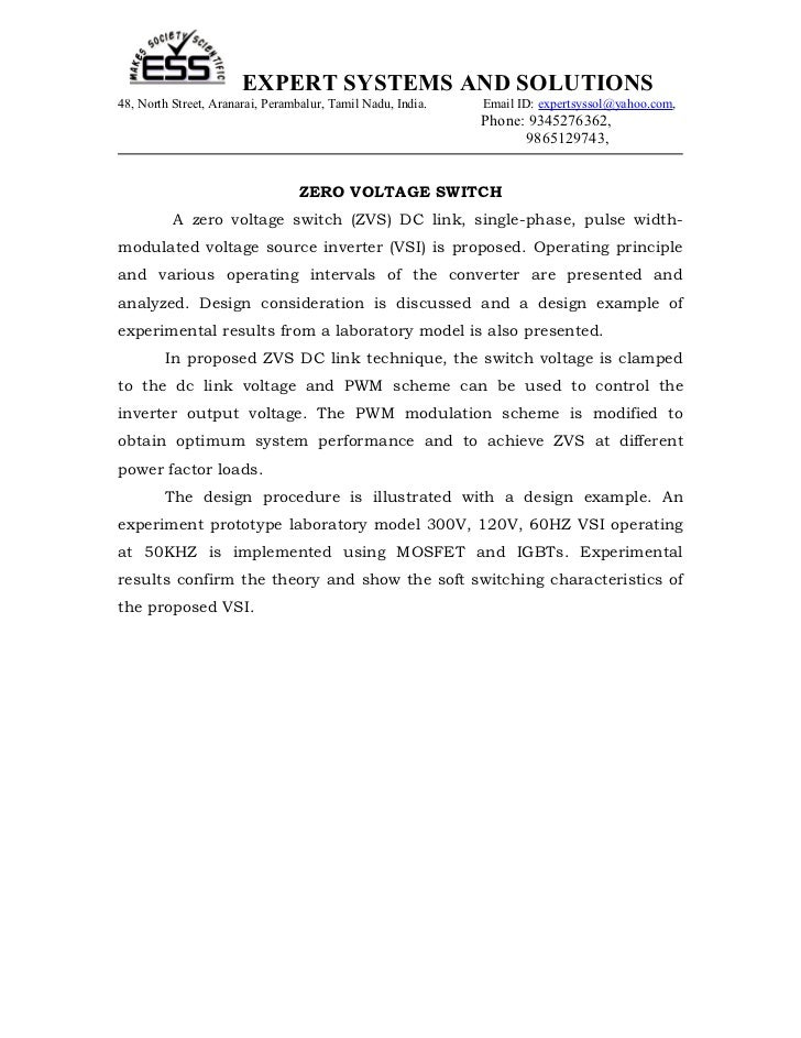 EXPERT SYSTEMS AND SOLUTIONS48, North Street, Aranarai, Perambalur, Tamil Nadu, India.   Email ID: expertsyssol@yahoo.com,...