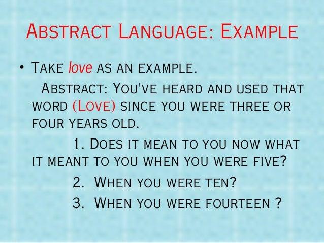 what does concrete language mean