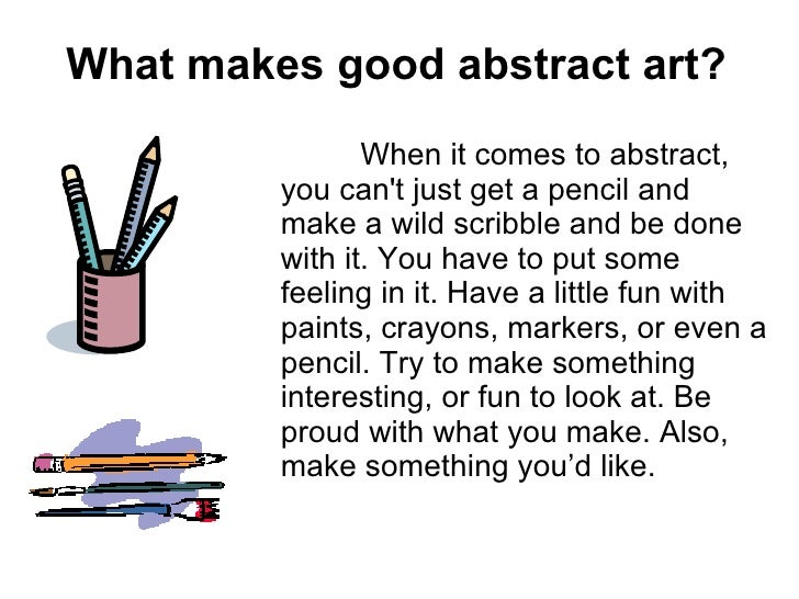 what is a good abstract
