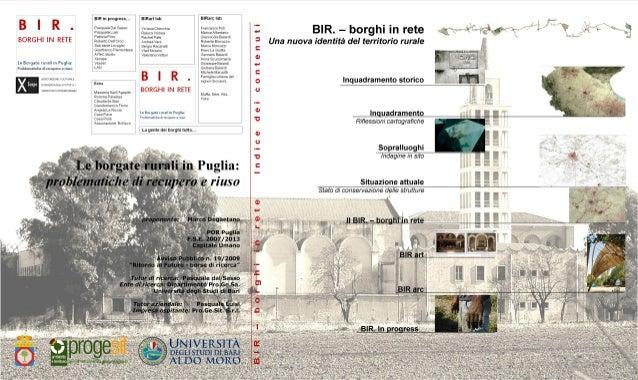 BIR Borghi in rete - abstract