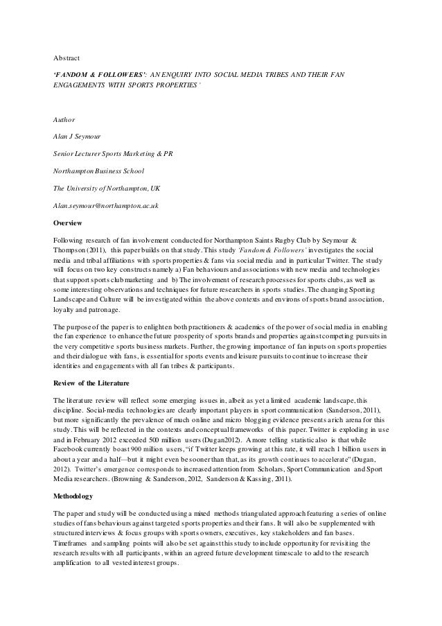 Research paper of management