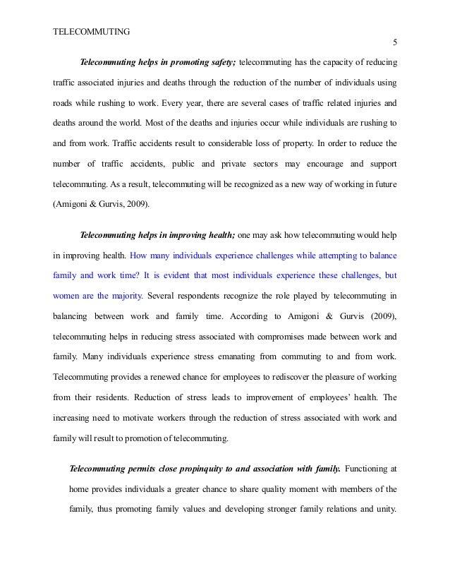 telecommuting essay ielts