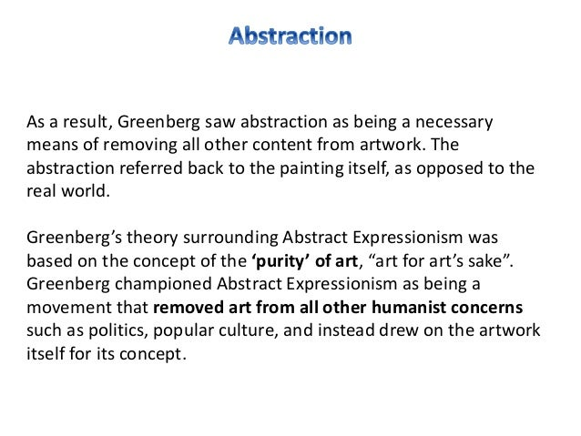abstract expressionism thesis Teaching strategies: how to explain the history and themes of abstract expressionism to abstract: the purpose of my thesis is to create a guideline for teachers.