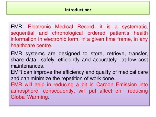 scientific paper on emr Slide 2