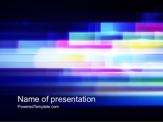 abstract multicolor motion powerpoint template by