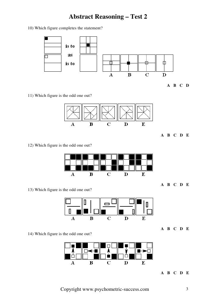 Abstract Reasoning 2