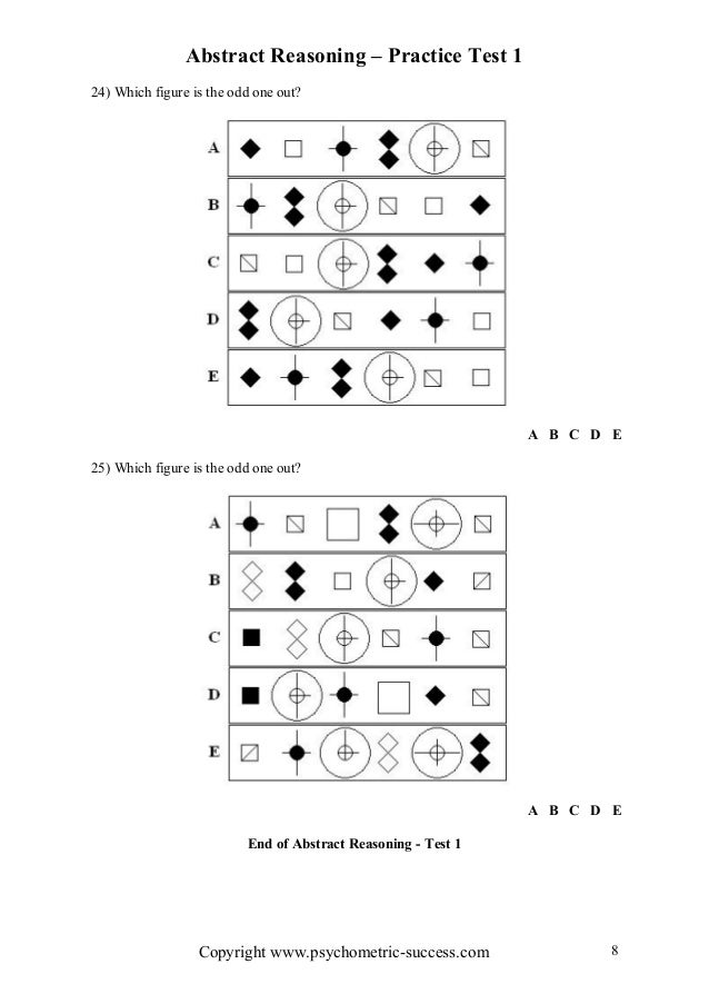 Abstract reasoning test (4)